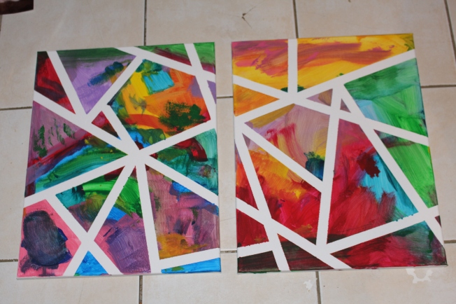 The finished canvases.