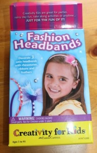 The headband craft kit box.