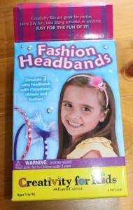 The headband craft kit box.