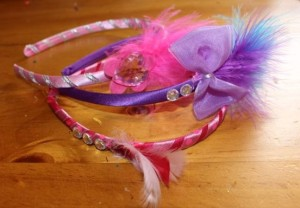 Three beautiful headbands.