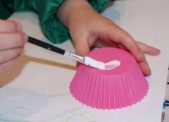 Adding glue.