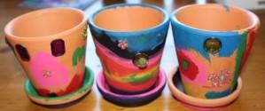 L's finished pots.