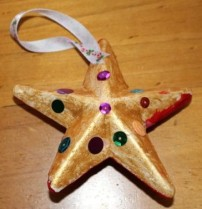 A's painted star. The other side was red with sequins.