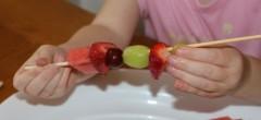 Adding a grape.