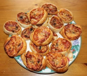 Pizza pinwheels.