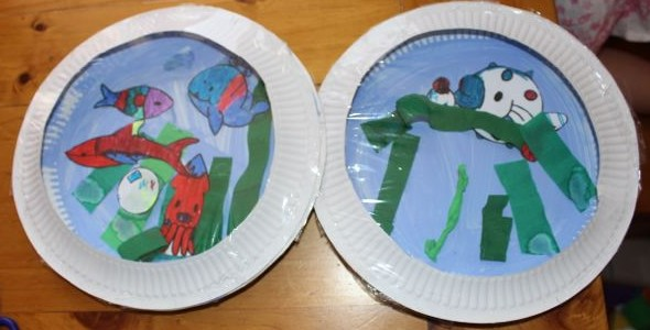 Paper Plate Aquarium | Today We Did
