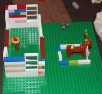 Building up the school room.
