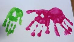 Paint hand prints.