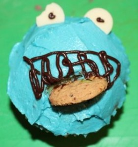 Big L's attempt at making Cookie Monster from Sesame Street.