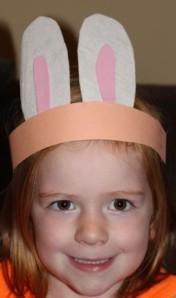 A as a cute little bunny.