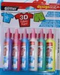 3D glitter fabric paints.