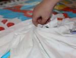 L creating a swirl fold.