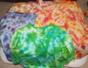 Scrunch pattern shirts.