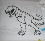 The traced dinosaur.