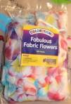 Fabric flowers.