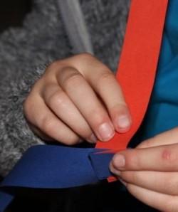 L folding up a worm.