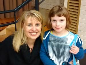 L with Jacqueline Harvey.