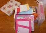 Mix and match stationery supplies.