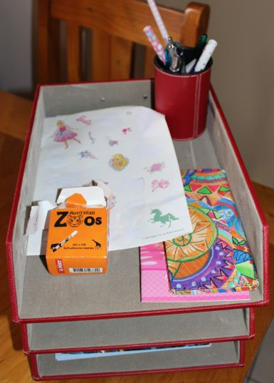 Our new organised letter writing station.