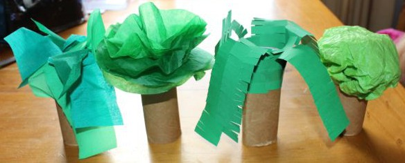 Cardboard roll trees today we did for How to make a tree out of toilet paper rolls