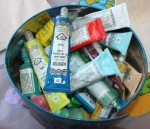 The tin of fabric paint.