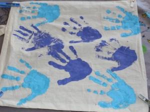 Hand print bag.