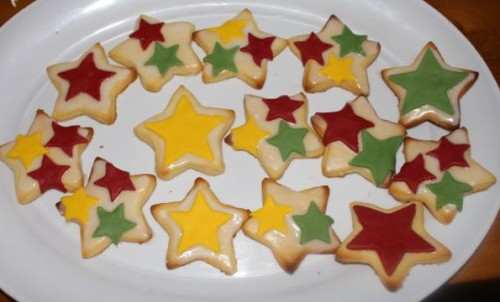 Some of the finished biscuits.