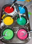 Finger painting palette.