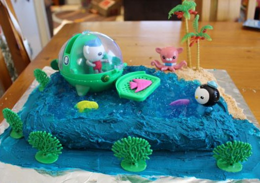 Magnificent Octonauts Cake Today We Did Personalised Birthday Cards Veneteletsinfo