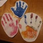 Hand-prints.