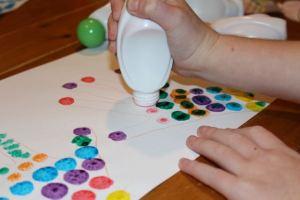Adding coloured dots.